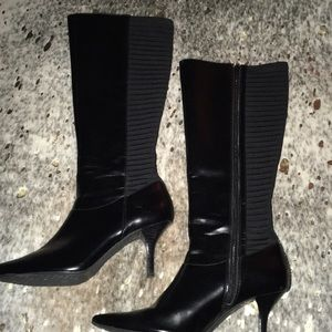Sexy Calvin Klein Faux Leather Black Boots Size 6!